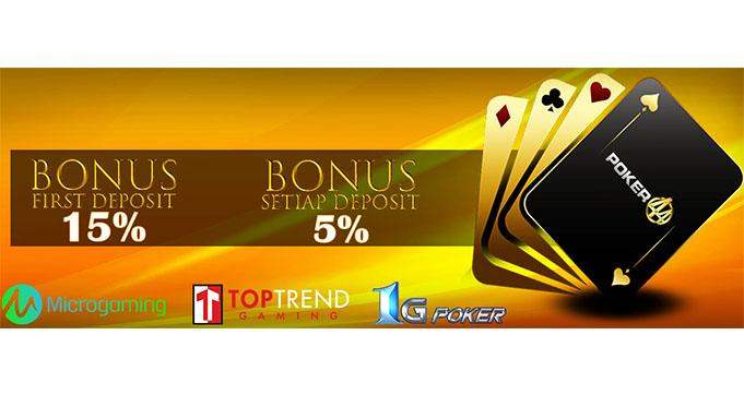 bonus poker online member baru